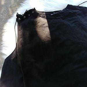 Zara side lace up tank